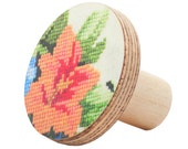 Wall Hook - wooden flower orange design