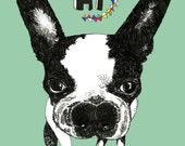 Bulldog Note Cards - Set of Six - Dog Art