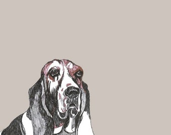 Basset Hound Print - Dog Art