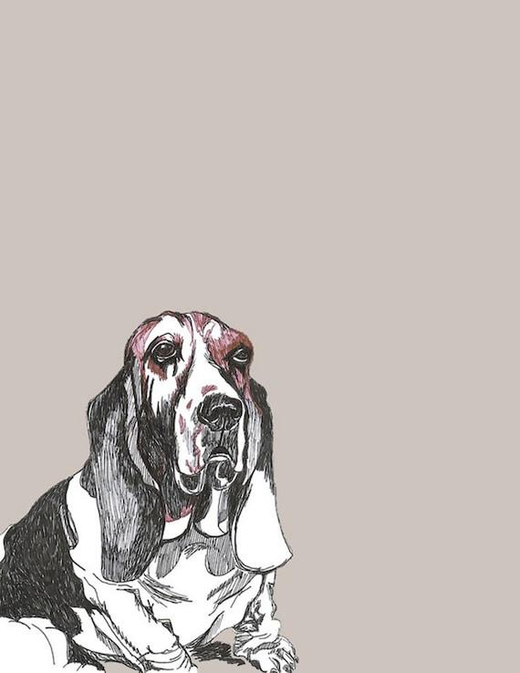 Basset Hound Print - Dog Art