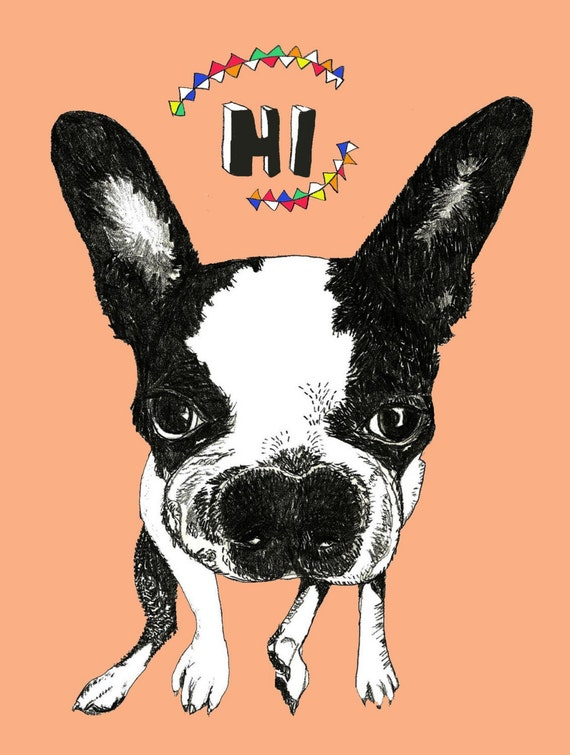 Boston Terrier Note Cards - Set of Six
