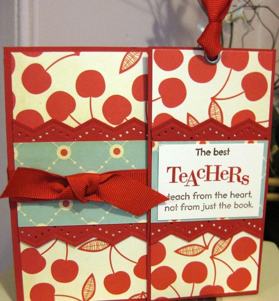 A Cherry On Top Teacher Appreciation Handmade Gift Card with