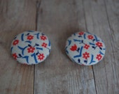 Vintage Fabric Button Magnets