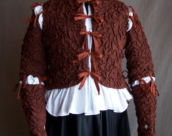 Romeo Jacket, Historical Renaissance or Modern Funky, One of a kind, Hand Cloqued, Creped