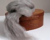 Ecru/Undyed/Natural Swirl BFL / Silk wool roving blend (combed top), spinning fiber - 4 ounces