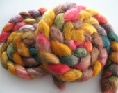 Golden Buttercup - Wensleydale Wool Roving (Top) - Handpainted Spinning or Felting Fiber - 4 ounces