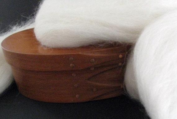 Ecru/Undyed/Natural White Alpaca wool roving, spinning fiber - 4 ounces