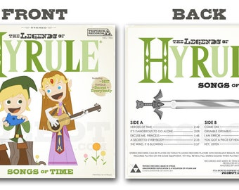 The Legends of Hyrule Front and Back set - 12.5 X 12.5 PRINT(s)