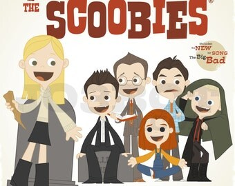 Buffy and the Scoobies - 12.5 X 12.5 PRINT