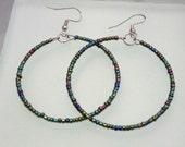 Metallic Iridescent PURPLE/GREEN/BLUE- Favorite Hoop Earrings (10% proceeds donated)
