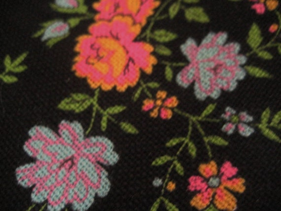 3.5Y Vintage Floral Screenprinted Woven Fabric