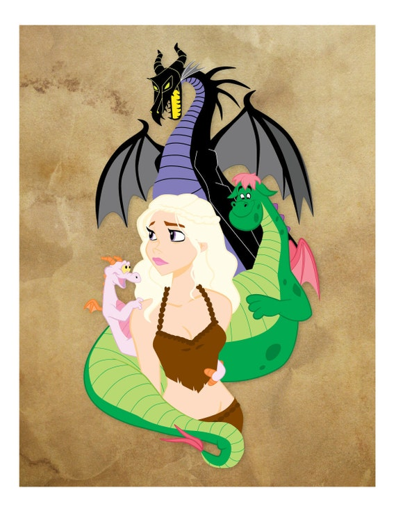 "Disney / Game of Thrones Mother of Dragons 8x10"" Limited Edition Signed Print"