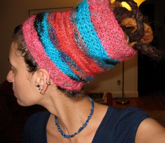Dreadlocks Hair Wrap -- Dreadlocks Headband -- Hair Wrap from Handspun Yarn