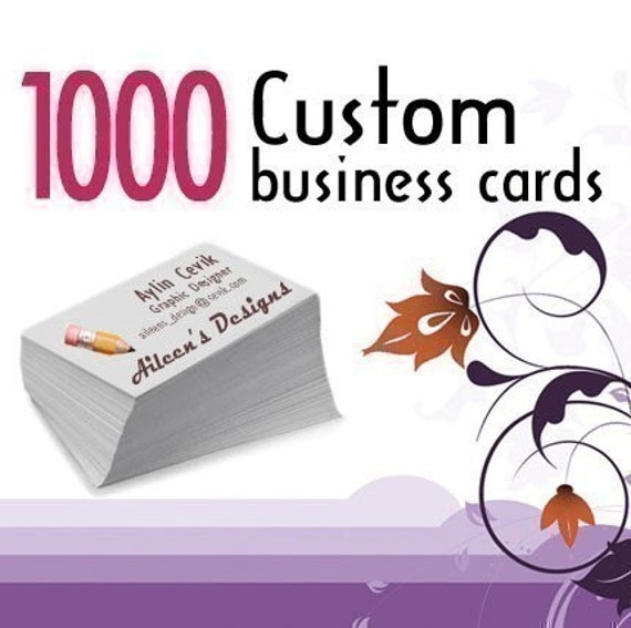 1000 Custom Printed Glossy or Matte One Sided or Two Sided Business Cards