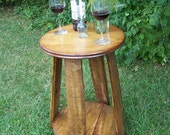 Bistro Table from Reclaimed Antique Apple Barrel Parts