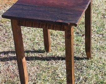 Reclaimed Antique Oak End Table