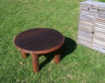 Reclaimed barnwood outdoor rustic coffee table