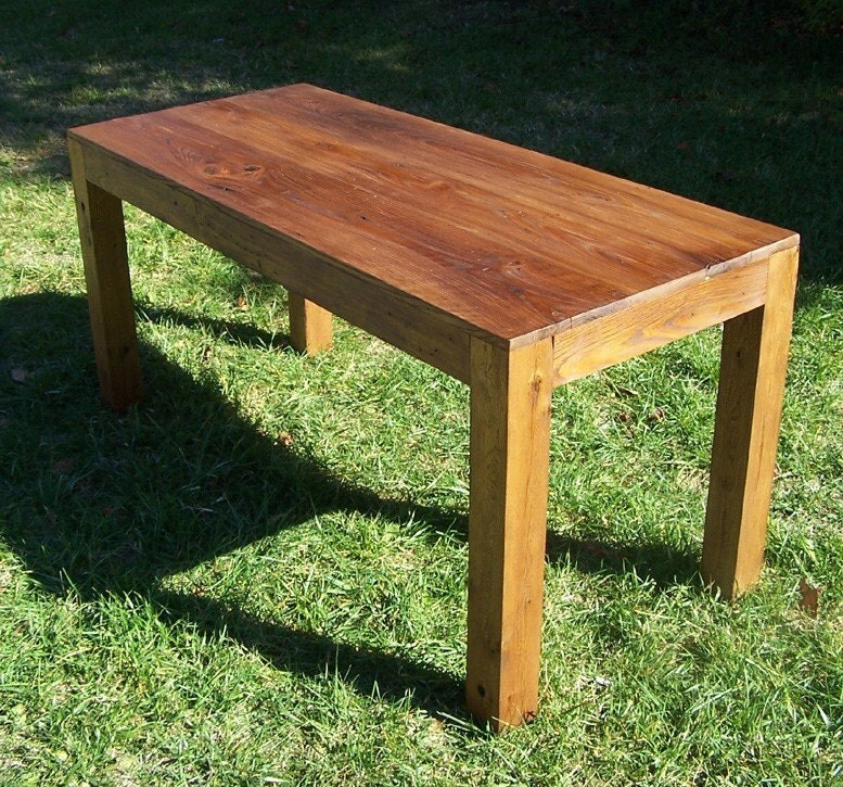 🔎zoom - Reclaimed Wood Parsons Table
