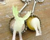 Upcycled Glow in the Dark Moose Best Friend Necklaces