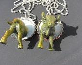 RePurposed Bull Best Friend Necklaces