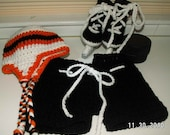 Winter Classic Hockey Set with Hockey Skate booties - hockey pants - NHL color hat in three sizes