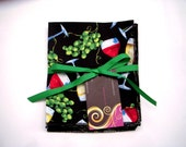 WIne Party or Dinner  Napkins Set of 4 Eco Friendy Hand Made in the USA Reusable