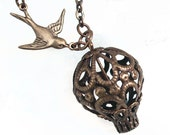 Filigree Hot Air Balloon Pendant Necklace Jewelry Jewellery - Flying High