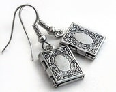 Keepsake Silver Locket Earrings