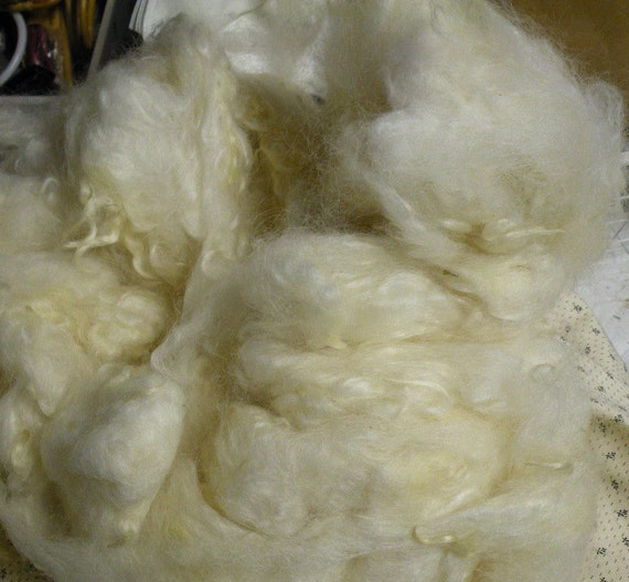 Lincoln Longwool, washed wool 8 ounces