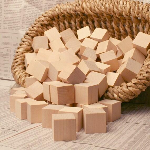 "ONE HUNDRED 1.25"" Raw Wooden Blocks"