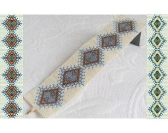 2 Loom Bead Patterns for Mother Earth Cuff Bracelet - 2 Variations For The Price Of 1