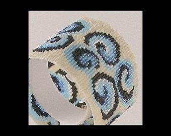 Loom Bead Pattern - Curly Swirly Cuff Bracelet