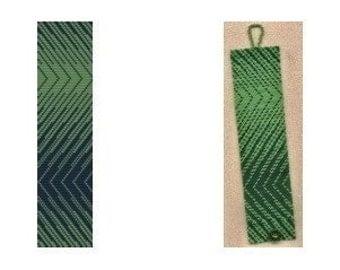 Loom or 1 Drop Odd Peyote Bead Pattern - Two Way Cuff Bracelet
