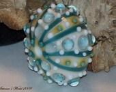 Urchin Sea Hollow Lampwork Glass Art Bead Focal SRA