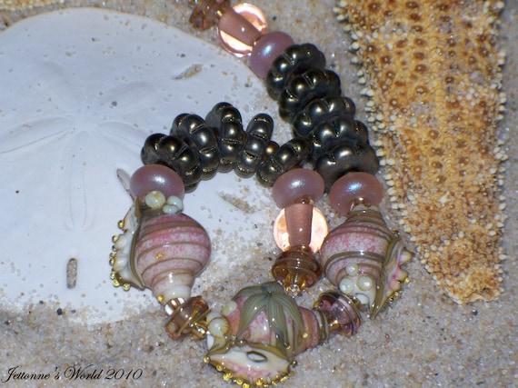 Central Bay Sands Lampwork Glass Art Bead Set SRA