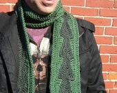 Custom - Forest Green Arrowhead Mens Scarf