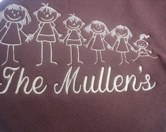 Personalized Family Cuddle Blanket
