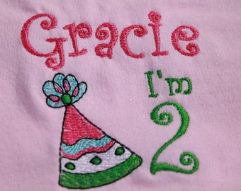 Birthday Shirt Personalized, Special Occasion Birthday Shirt for any age, Embroidery Customized