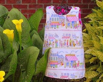 Girls Shift Dress, Paris Dress, Reversible Dress, Girls A Line Dress, Polka Dot Dress, Toddler Girl Dress, Handmade by Groovy Gurlz