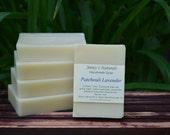 Patchouli Lavender All Natural Soap Handmade Cold Prosses Soap with Essential Oils 4oz Bath Bar