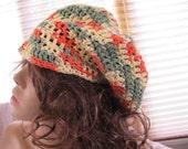 SALE - Cotton Newsboy Hat/Brimmed Beret (217)