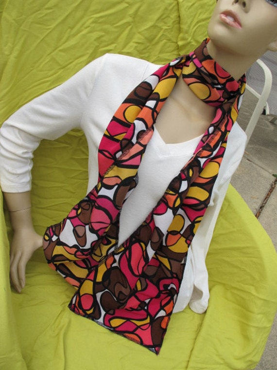 SALE - Gorgeous Print Fabric Scarf (1278)