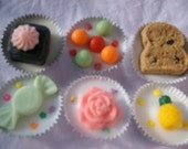 Half dozen(6) highly scented tarts assortment of Fruit salad, Sun washed linen, Chocolate orange truffles, Lovely day, Pineapple blossom, Banana nut bread