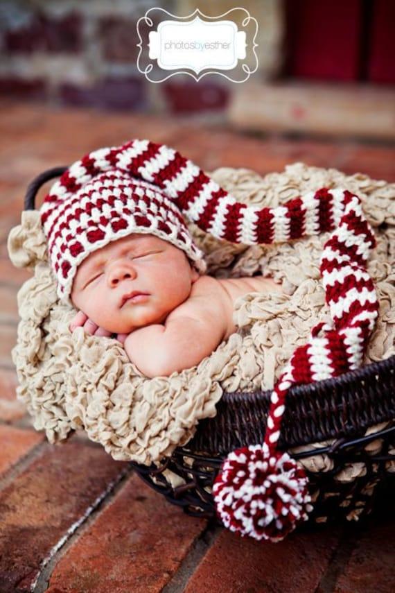 Christmas Elf Stocking Beanie (Newborn)