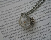mustard seed capsule silver necklace - vintage