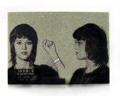 Jane Fonda Glamourizing Crime art plaque