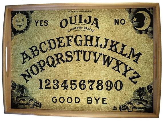 Ouija serving tray