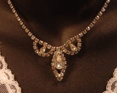 Vintage Elegant Rhinestone Necklace perfect for your wedding