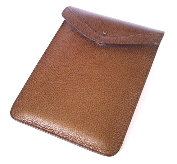 iPad Mini Leather Case - Brown Top-Grain Leather Sleeve