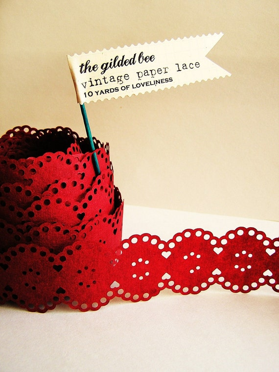 Merlot Red Hair Merlot Red Vintage Paper Lace